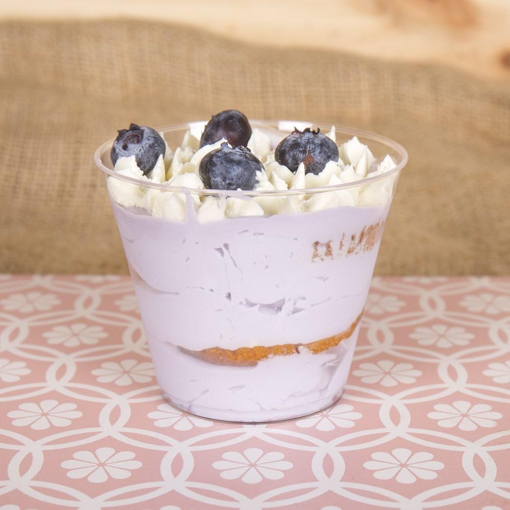 Tarta Vasos de mousse de arándanos - Pack de 12 - Venta de tartas caseras online